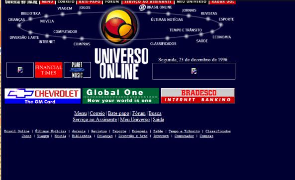 Uol em 1996
